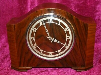 Vintage 1940's Smiths 259 Electric Synchronous Westminster Chimes Mantel Clock