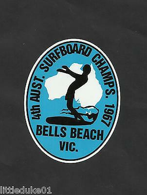 1967 AUSTRALIAN SURFBOARD TITLE BELLS BEACH Sticker Decal Longboard Skateboard
