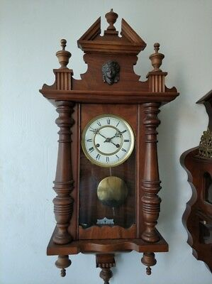 Antique Small Junghans Wall Clock - Regulator Clock 1910 (B10)