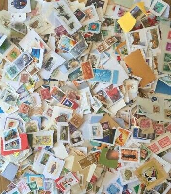World Mixed Stamps On & Off Paper Approx 300g Excellent Quality Kiloware