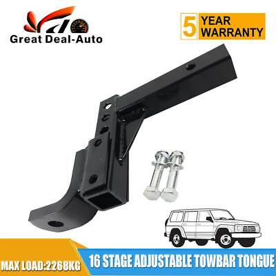 Adjustable Towbar Ball Mount Tongue Hitch 16 POSITIONS OF EITHER RISE OR DROP