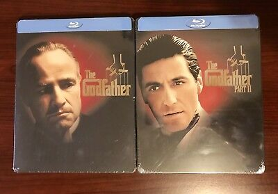 The Godfather Part I & II Steelbook Lot (Blu-ray, Best Buy Exclusive) SEALED!