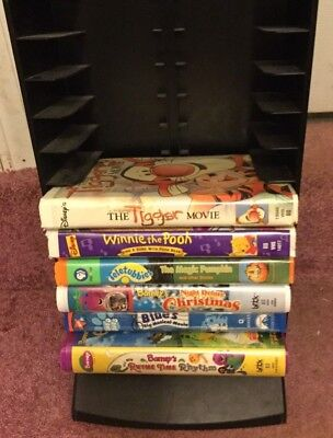 Laserline Vhs Tape Storage Display Tower Holds 50 Sleeves Or 25 Disney Clamshell