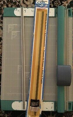 Rotary Paper Trimmer & 10 Decorative Cutting Blades with Replacement Cutting Pad