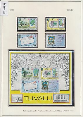 XB40753 Tuvalu 1980 philatelic exhibition stamp on stamp MNH