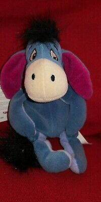 Disney Store Eeyore Winnie The Pooh Beanie Soft Toy With All Tags