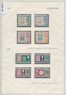XB40815 St Christopher 1961-1970 philatelic exhibition stamp on stamp MNH