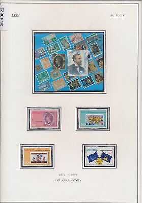 XB40823 St Lucia 1999 UPU anniversary stamp on stamp MNH