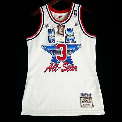 100% Authentic Patrick Ewing Mitchell   Ness 1991 91 All Star Jersey Size  52 2XL 0653eff1a