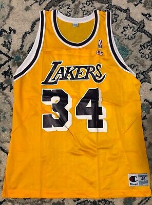 Vintage Shaquille O Neal Los Angeles Lakers  34 Champion NBA Jersey Size 48 d4fe77d743bf