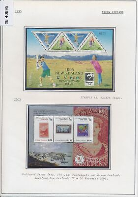 XB40895 New Zealand 1995-2005 philatelic exhibition stamp on stamp MNH