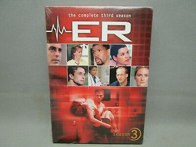 ER - The Complete Third Season (DVD, 2011, 6-Disc Set) New Sealed Free Shipping
