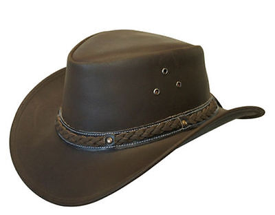 f132fed0bba 60S 70S STYLE Floppy Suede Leather Hat hippie boho Brown Black S-M-L ...