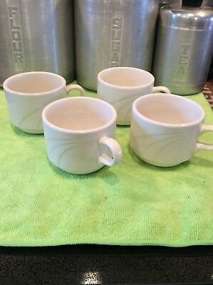 4 Vintage Syracuse China Coffee Cups Mugs Restaurant Ware Coffee Cups