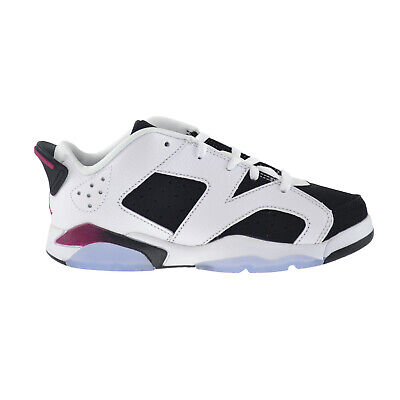 ba60b72114cd Jordan 6 Retro Low GP Preschool Kids Shoes White Sport Fuchsia-Black 768884-