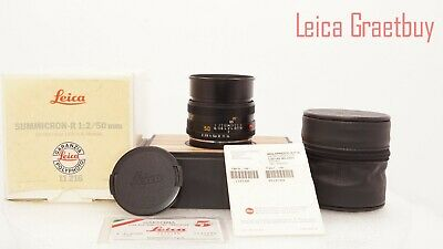 "Leica Summicron-R 50mm f/2 MF ""R Only"" Cam Lens Boxed #3512189 ""Pristine Optics"""