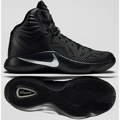 new arrival 80d5b d68e9 Nike Zoom Hyperfuse 2014 684591-001 Black Silver Men s Basketball Shoes Sz 7