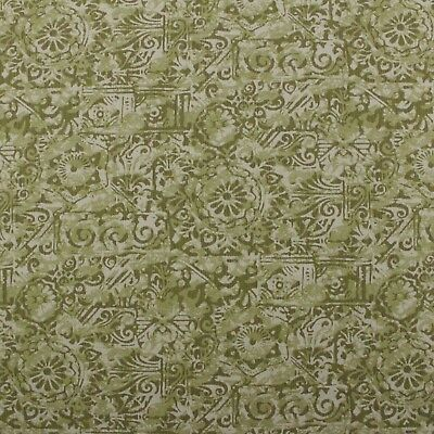 "Outdura Potpourri Elm Green Geo Medallion Outdoor Indoor Fabric By Yard 54""w"