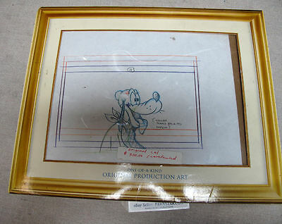 Disney's Mickey MouseWorks Mouse Works Product Drawing of Pluto with CERTIFICATE