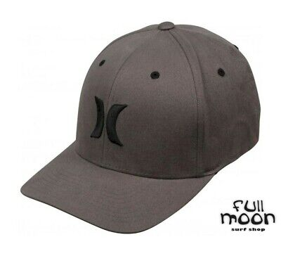 ce2aa27c102 New Hurley One and Color Mens Heather Black Flexfit Hat Cap
