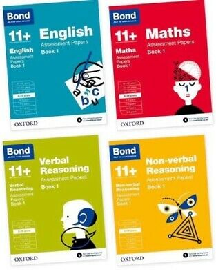Bond 11 Plus Assessment Papers English Maths Verbal Reason 9-10 Year 4book Set