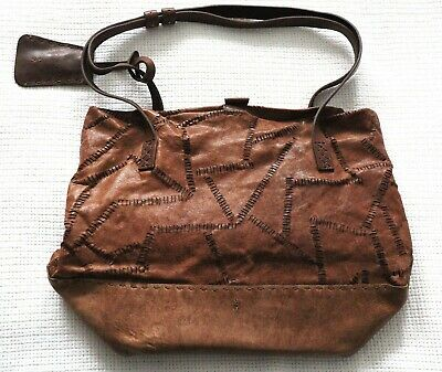 538136f78 Henry Beguelin Brown Leather Hobo Shoulder Bag Made In Italy 🇮🇹