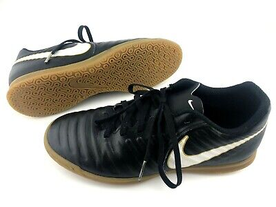 a2857f98b2b Nike Tiempo X Rio IV IC Size 6.5 Black White Gold Indoor Soccer Shoes 897769 -