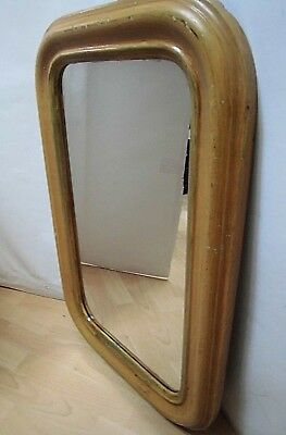 20s/30er Years Wall Mirror Art Deco Design Wood Frame 77x50 cm Old 20s Mirror