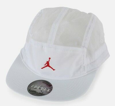 Nike Air Jordan Jumpman Aw84 Classic 5 Pannel Toggle Hat Cap - White  918441-100 04966a41c9bf