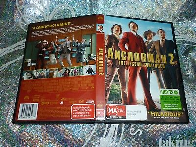 Anchorman 2 The Legend Continues (Ex-Rental) (Dvd, Ma15+)  (P139261-5 A)