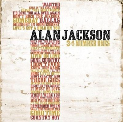Alan Jackson- 34 Number Ones..2 Discs..like New Condition..free Post..*396