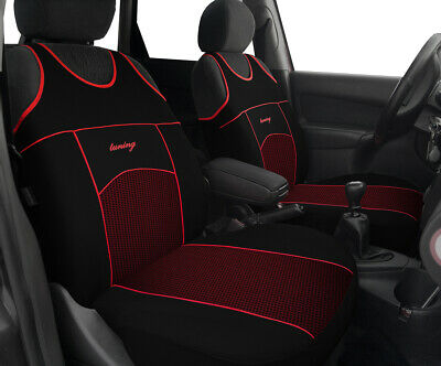 UKB4C Black//Grey Front Pair of Car Seat Covers for Corsa Hatchback All Models