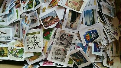 2 kg of Mixed USED Australian Stamps Bulk Kiloware on paper