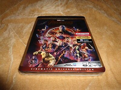 Avengers: Infinity War (2018) [4K Ultra HD/Blu Ray/Digital Code] SLIP CASE BOX