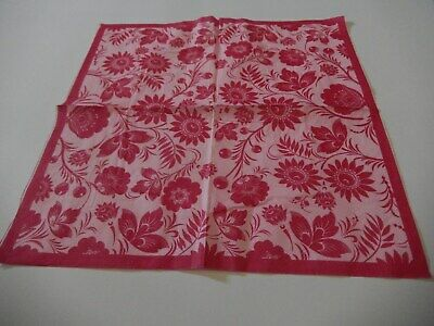 3 paper napkins for Decoupage /wedding/parties/cards Pink /red flowers FREE POST