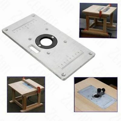 235mm x 120mm x 8mm Aluminum Router Table Insert Plate For Woodworking Benche…