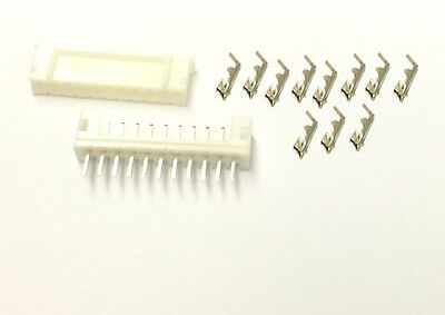 2.0mm PH JST 11Pin Female Connector Crimp Pin Terminal,Straight Male Header x 5