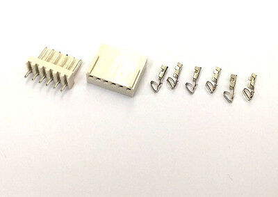 20SET 2510 2.54mm 6Pin Way Female Connector Crimp Contact Male Solder PCB Header