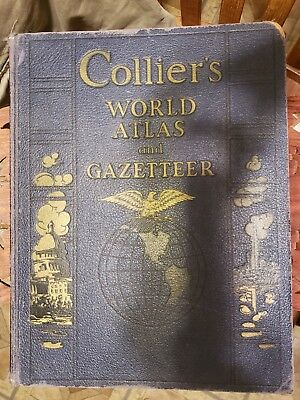 Collier's World Atlas and Gazetteer published 1940 Excellent Condition