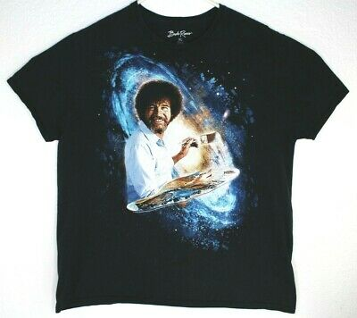 fa42a3c76 Bob Ross Mens T-Shirt Joy Of Painting Space Galaxy Graphic Cotton Large