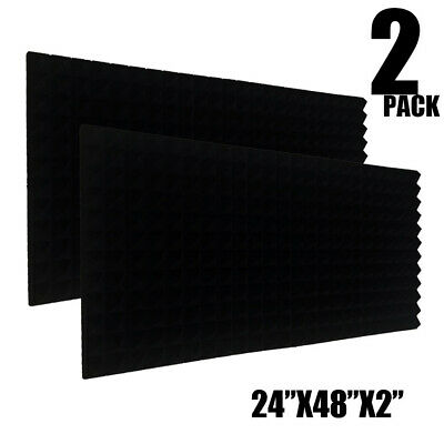 2 Pack Acoustic Foam Sound Absorption Pyramid Studio Treatment Wall Panels