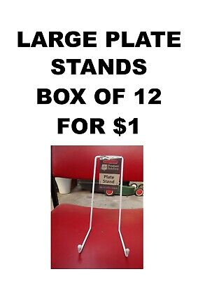 Box Of 12 Display Plate Or Picture Stand - Large Size Brand New