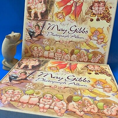 Gum Nut Babies May Gibbs Die Cut Illustrated Photo Album - Original Box, As New