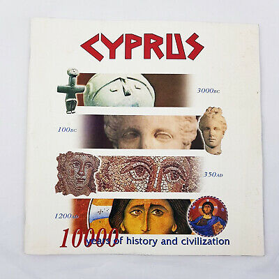 Cyprus 10000 Years of History and Civilization Tourism Paperback Book Sept 2002