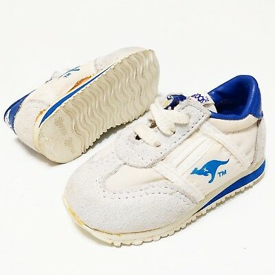 Kangaroos Shoes Vintage 1980s 90s Kids 2.5 Suede LEATHER DEADSTOCK New Miniature