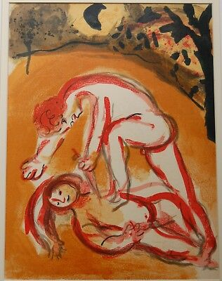1960 Marc Chagall (1887-1985) Cain & Abel Litho, Bible, Genesis, Old Testament
