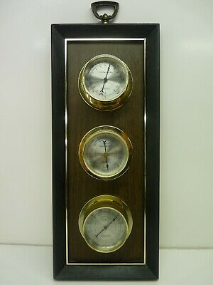 Vintage Springfield Weather Station Thermometer Barometer Humidity Gauges