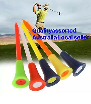 50 X TOP QUALITY LARGE 83mm PLASTIC & RUBBER CUSHION TOP GOLF TEE Mixed Colours