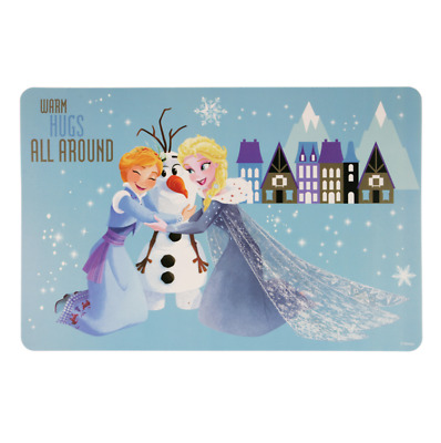 Disney Frozen Placemat Warm Hugs All Around Elsa Anna Olaf Collectible Blue PP