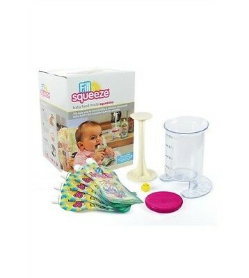 BNIB Fill N Squeeze baby weaning food pouch starter pack